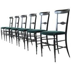 Colombo Sanguineti Campanino Chairs Chiavari, Italy, 1950