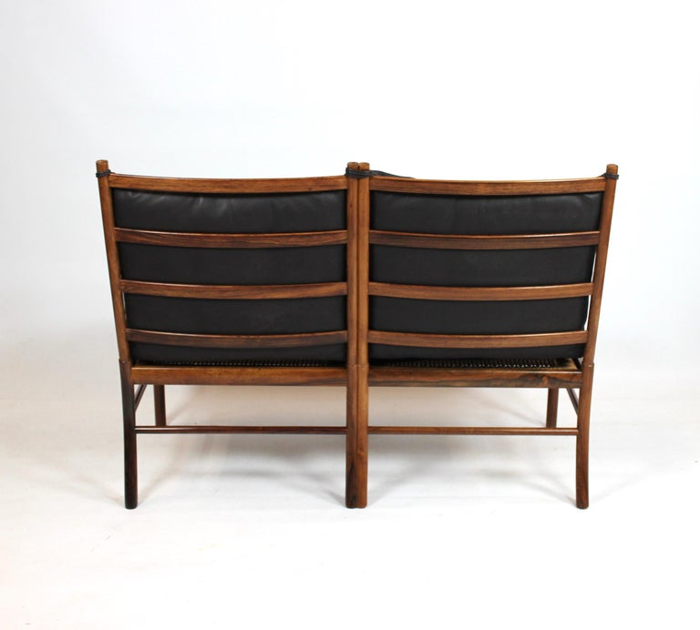 Scandinavian Modern Colonial 2-Seat Sofa, Model OW149-2, by Ole Wanscher, 1960s For Sale