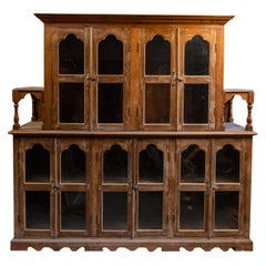 Colonial Buffet and Hutch, Wood, Late 19th Century