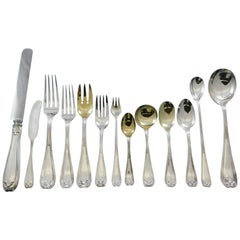Colonial by Tiffany Sterling Silver Flatware Set Service 184 Pcs Fitted Chest