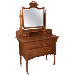 Colonial Dressing Table, Mahogany, Metal, 19th Century
