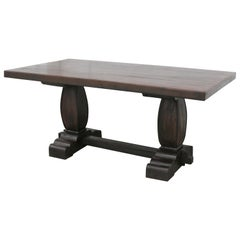 Colonial Era Solid Teak Wood Breakfast Table from a Settler's Home