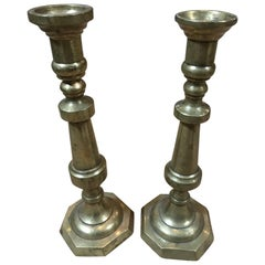 Colonial Mexican Candlesticks, Pair