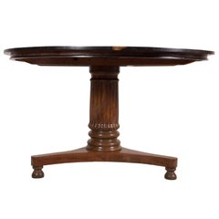 19th Century Colonial Padouk and Ebony Table