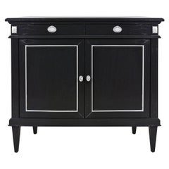Colonial-Style 2-Door Black Oak Sideboard