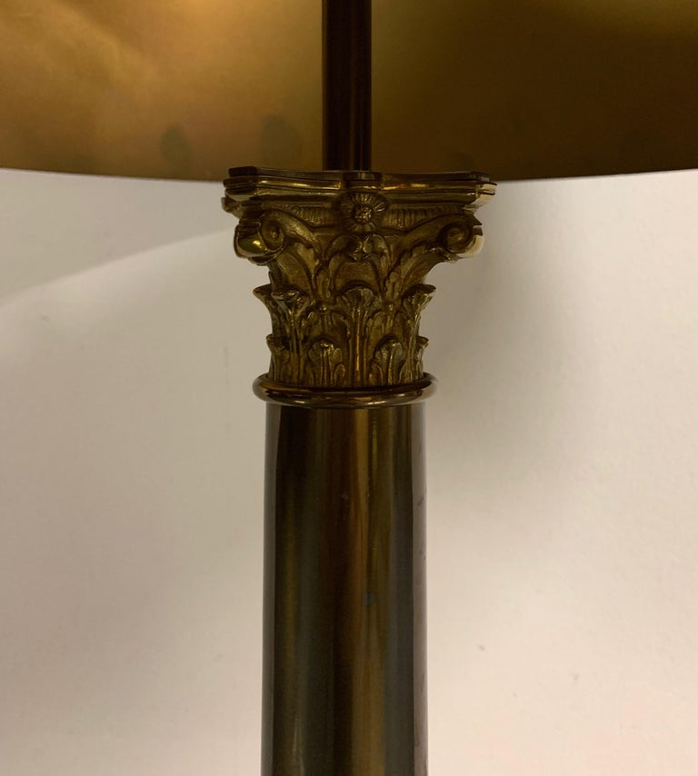 French Colonne Table Lamp from the Classique Collection of Maison Charles / Signed For Sale