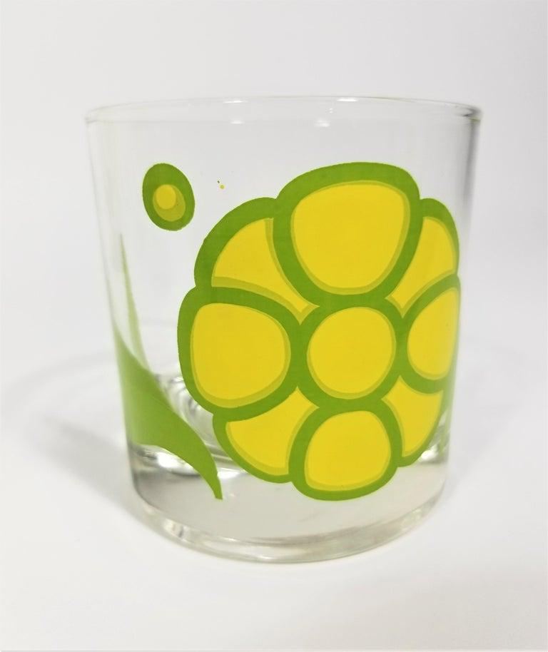 Colony Glassware Barware Mid Century Set of 6 with Ice Bucket For Sale 6