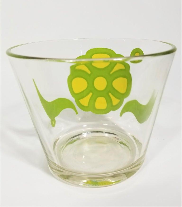 Colony Glassware Barware Mid Century Set of 6 with Ice Bucket For Sale 1