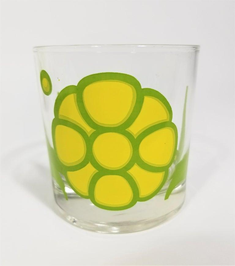 Colony Glassware Barware Mid Century Set of 6 with Ice Bucket For Sale 2