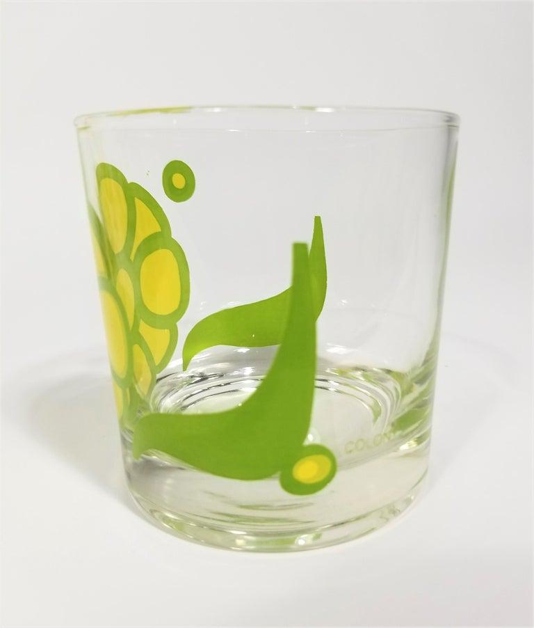 Colony Glassware Barware Mid Century Set of 6 with Ice Bucket For Sale 3