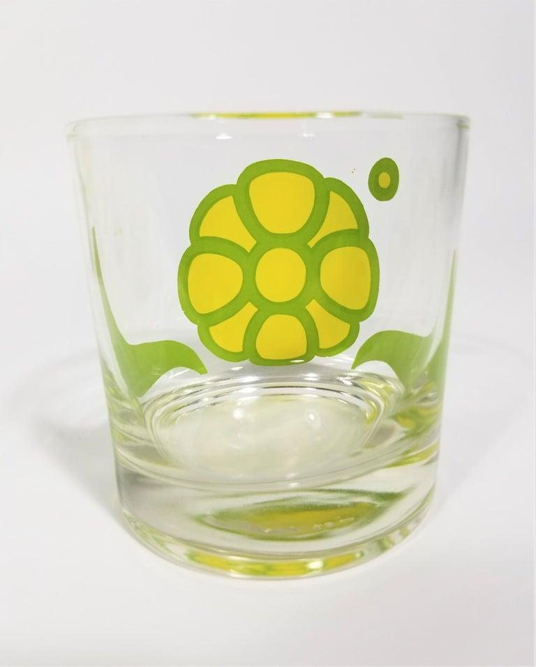 Colony Glassware Barware Mid Century Set of 6 with Ice Bucket For Sale 4