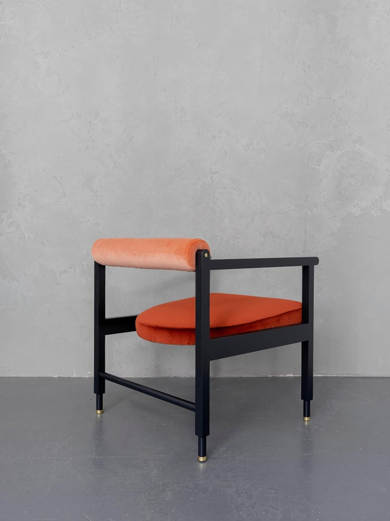 Modern Color-blocked St. Charles Armchair by VOLK For Sale