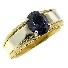 Color Change Garnet in 18 Karat and 22 Karat Gold Custom Ring