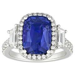 Color-Change Sapphire Ring, 6.59 Carat