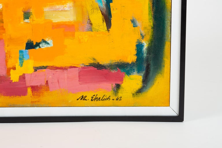 Mid-Century Modern Color Field Painting Attributed to Millie Ehrlich For Sale