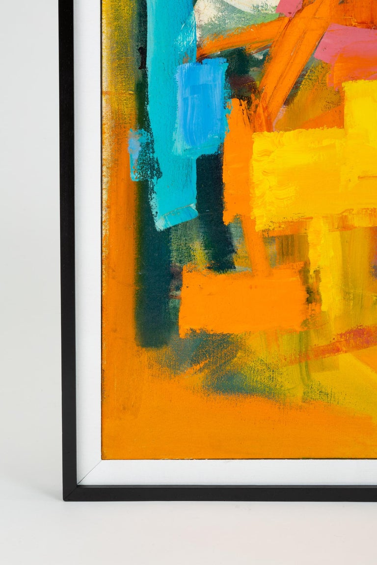 Color Field Painting Attributed to Millie Ehrlich In Excellent Condition For Sale In Los Angeles, CA