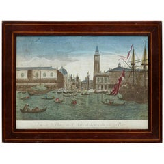 Color Lithography of Venice, 18th Century