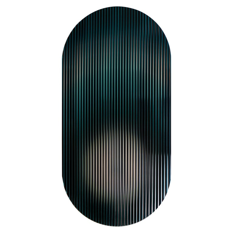 Color Shift Panel Indigo Black with Glass and Color Sublimated Mirror For Sale