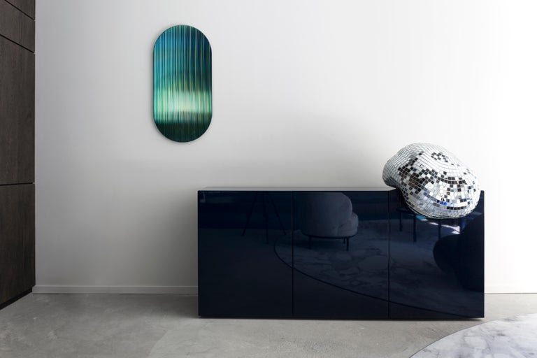 Shift Panel Trichroic grün mit Glas und Farbe sublimiert Spiegel 3