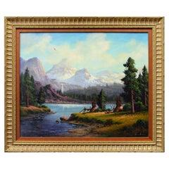 """Colorado Mountain Home"" Original Painting by Heinie Hartwig"