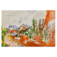 """Colorado Summer"" by Vaclav Vytlacil, mixed media on paper"
