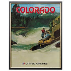 """Colorado"" Vintage United Airlines Travel Poster, circa 1970s"