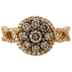 Colored Diamond Cluster Ring