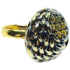 Your Nerves won't Budge Ever with One of a Kind Colored Diamond Cocktail Ring