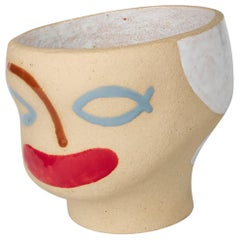 Colored Head Ceramic Vessel