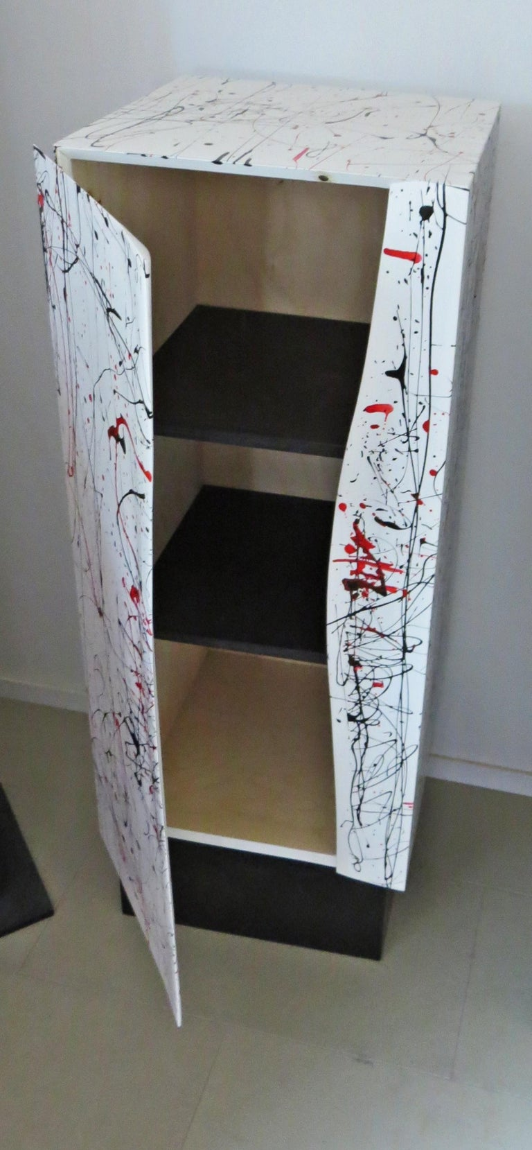 Contemporary Colored Object Furniture in the Style of Jackson Pollock For Sale