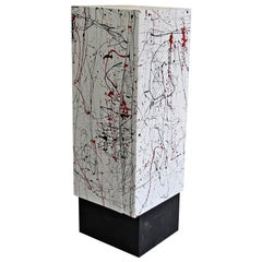 Colored Object Furniture in the Style of Jackson Pollock