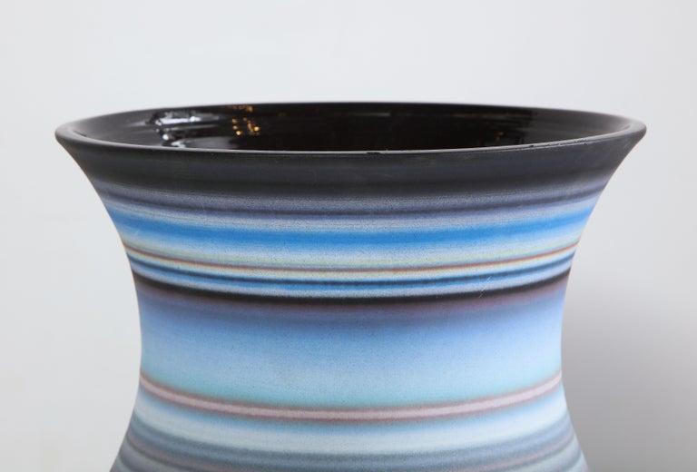Colored Striped Vessel, Medium For Sale 3