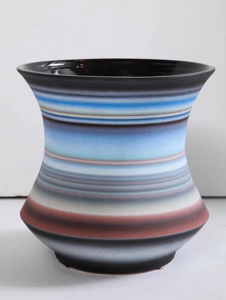 Colored Striped Vessel, Medium For Sale 4