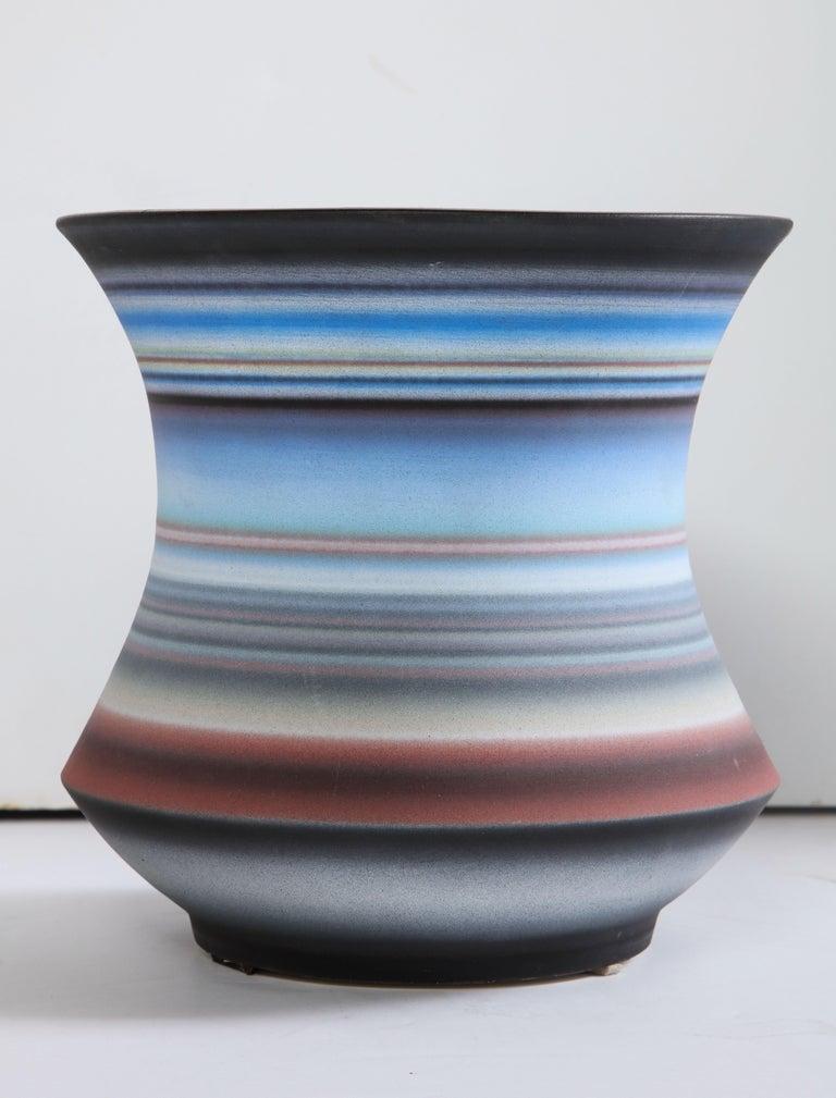 Colored Striped Vessel, Medium For Sale 5