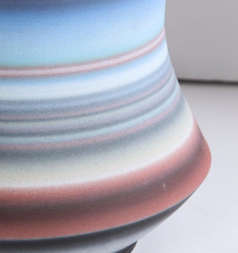 Colored Striped Vessel, Medium For Sale 6