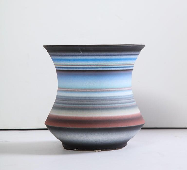Glazed ceramic Signed on bottom.