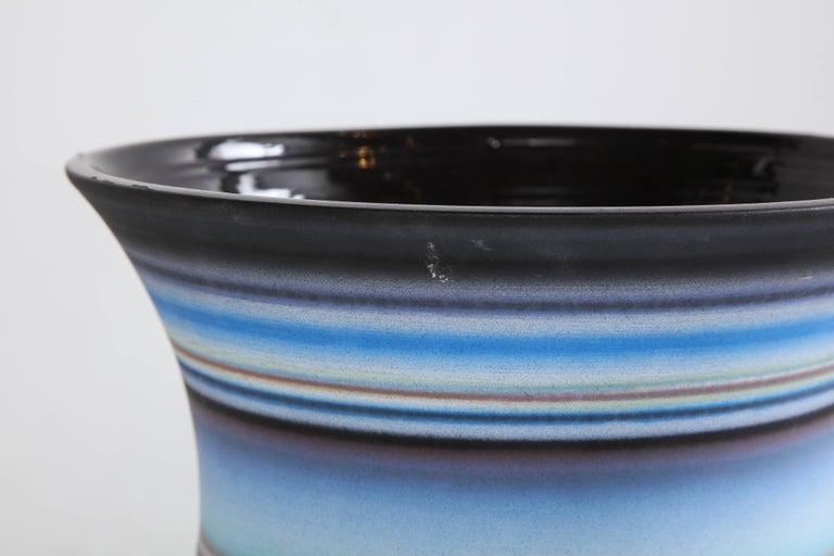 Contemporary Colored Striped Vessel, Medium For Sale