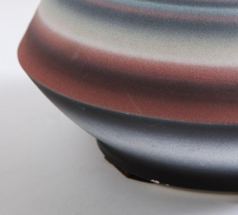 Ceramic Colored Striped Vessel, Medium For Sale