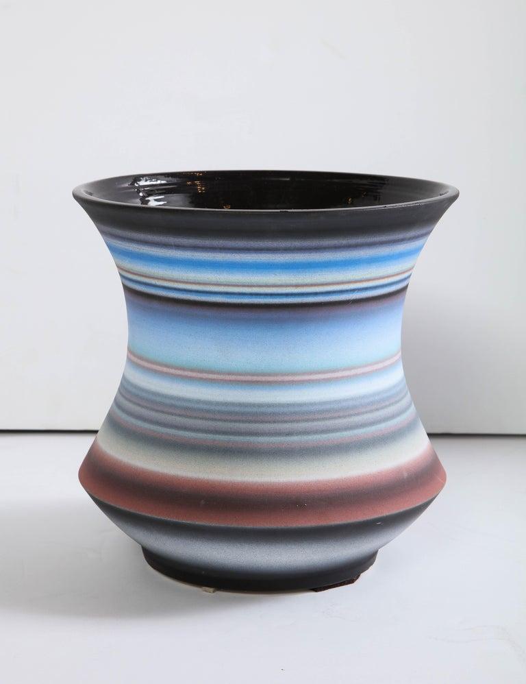 Colored Striped Vessel, Medium For Sale 1