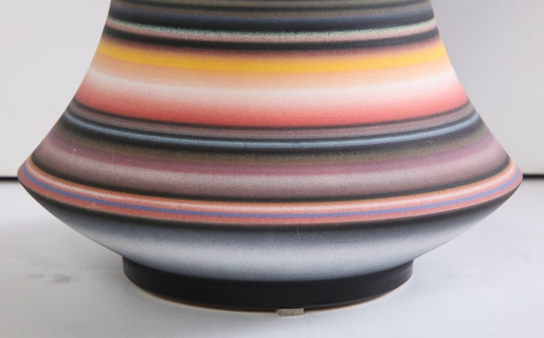 Colored Striped Vessel, Tall For Sale 1