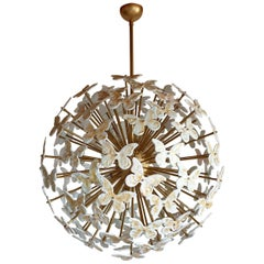 Colored through Light, Large Murano Sputnik Chandelier, Mid-Century Modern 1980s