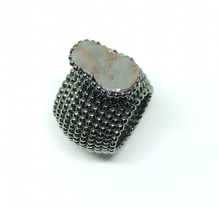 Contemporary Relax! You're light years ahead with One of a kind Colored Uncut Diamond Ring For Sale