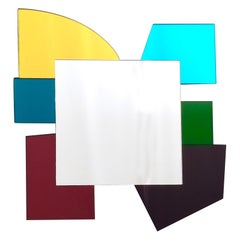 Colored Wall Mirror in the Style of Ettore Sottsass, Italy, 2010s