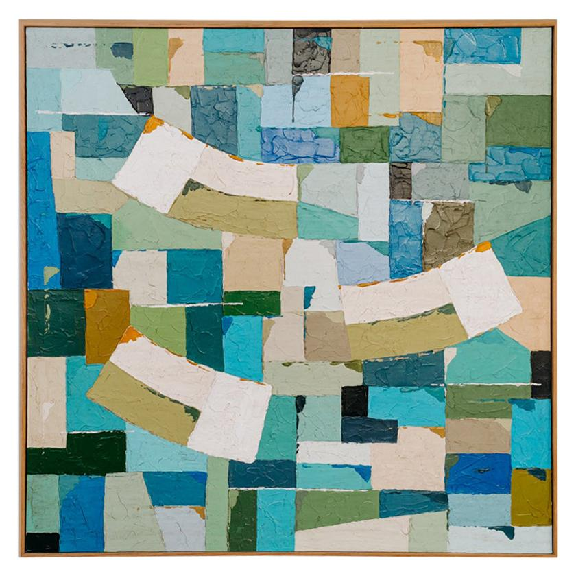 Colorful 1950's Abstract Painting