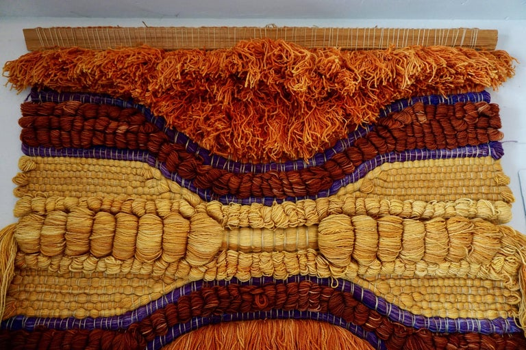 Dyed Colorful 1960s Wool Tapestry For Sale