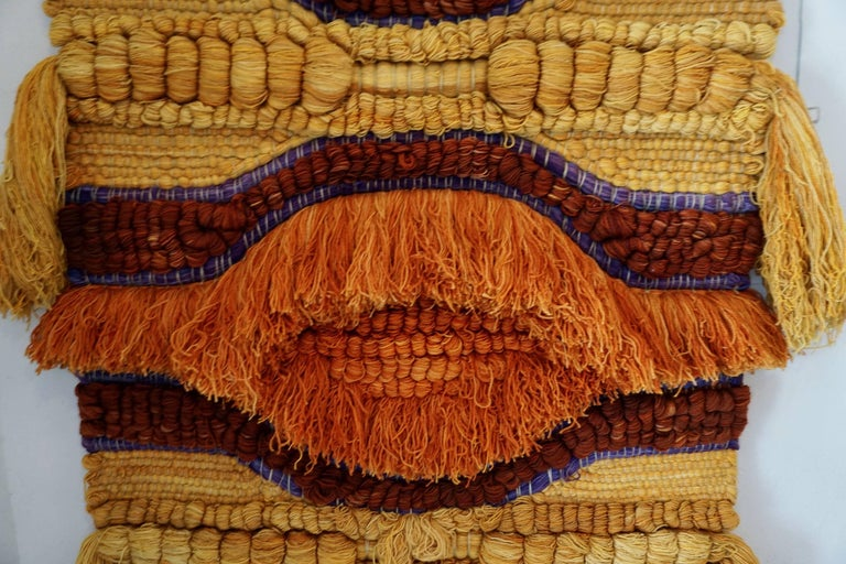 Colorful 1960s Wool Tapestry In Excellent Condition For Sale In Cathedral City, CA