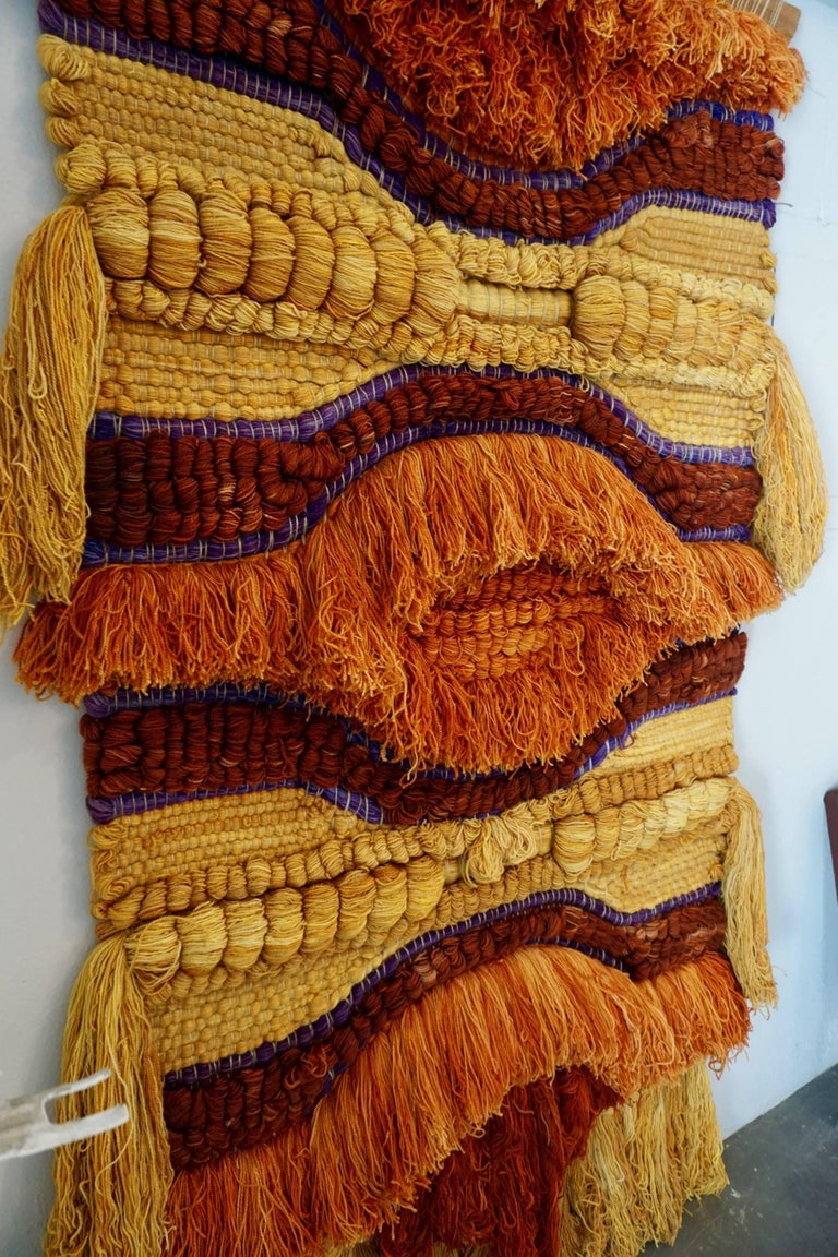 Colorful 1960s Wool Tapestry For Sale 1