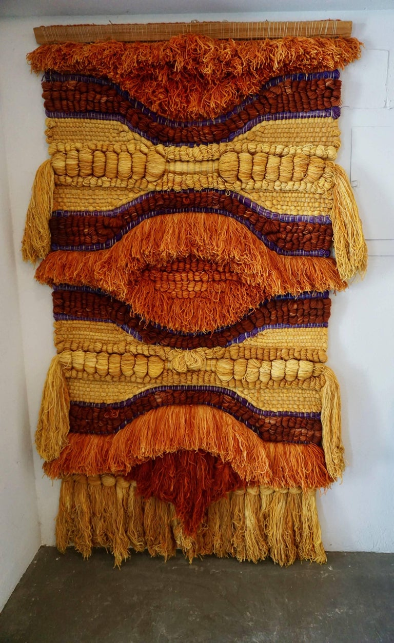 Colorful 1960s Wool Tapestry For Sale 2