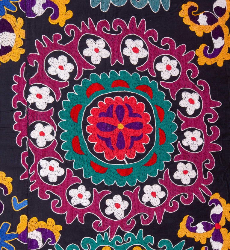 20th Century Colorful 1970s Suzani from Uzbekistan, Central Asia For Sale