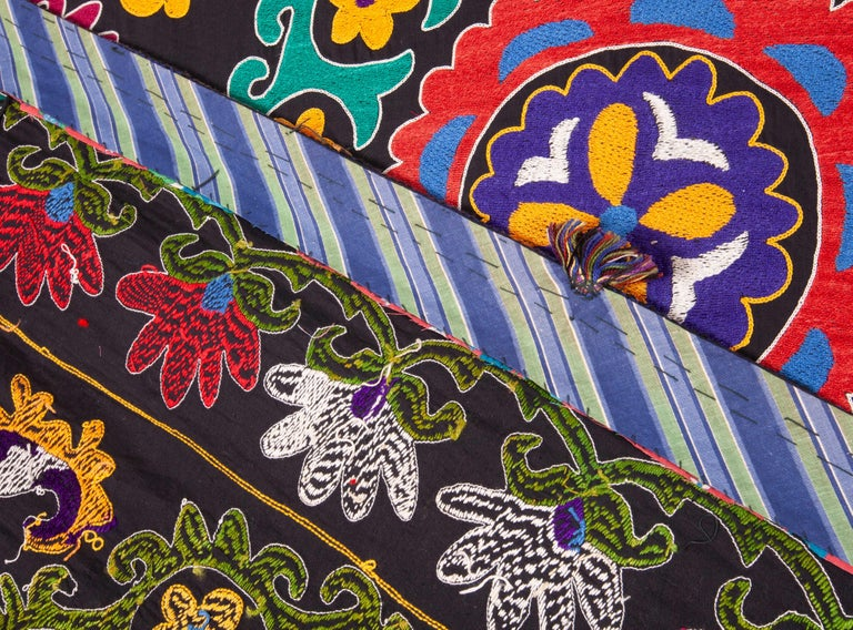 Colorful 1970s Suzani from Uzbekistan, Central Asia For Sale 3